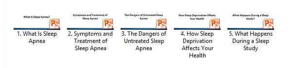 Sleep Apnea Slide Decks