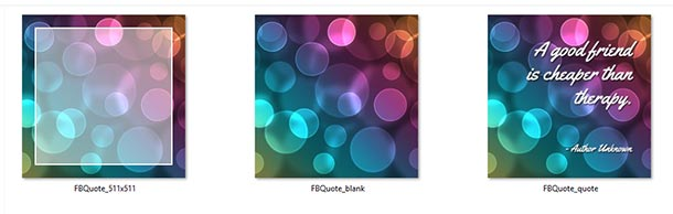 Bokeh Quote Boxes
