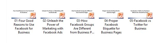 Facebook PLR Slide Decks