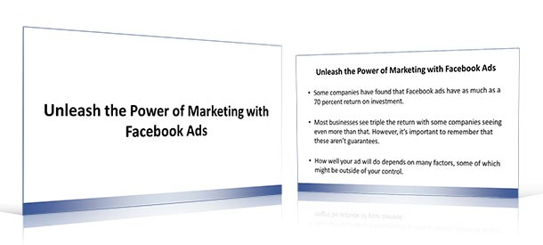 Facebook PLR Slide Deck Example