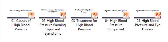 High Blood Pressure Slidedecks