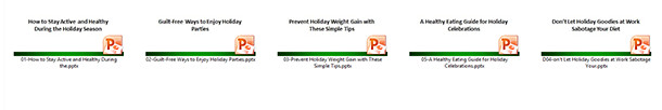 Avoid Holiday Weight Gain Slide Decks
