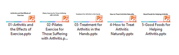 Arthritis Powerpoint Display