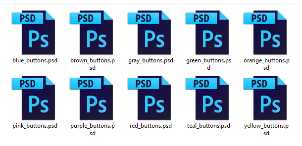 Promotion Buttons PSD Source Files