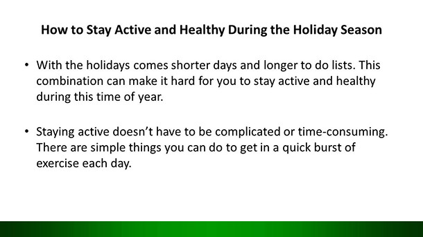 Avoid Holiday Weight Gain PLR Example